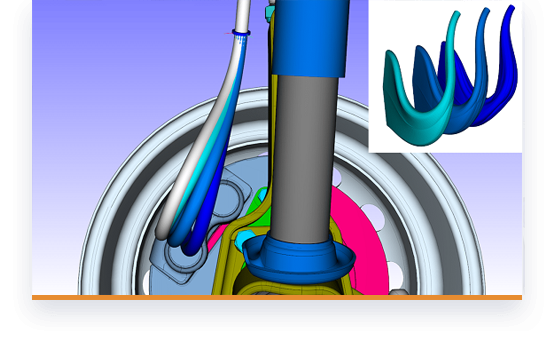 Dynamic simulation with damping properties