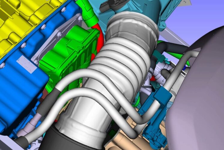 Bellow analysis inside the engine compartment