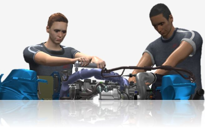 Webinar: Digital validation process with the human model IMMA including assemblies for objects, cables and hoses in 2D and VR