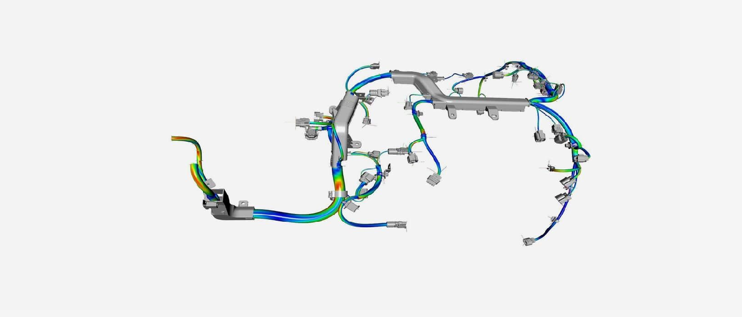 Are you digitally insuring the design of wiring harnesses and hoses?